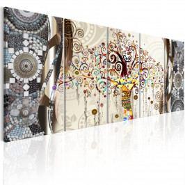 Obraz - Strom a mozaika (150x60 cm) - Murando DeLuxe