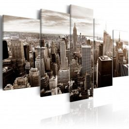 Vícedílný obraz - stylový Manhattan (200x100 cm) - Murando DeLuxe