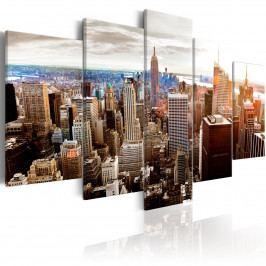 Pětidílný obraz - mrakodrapy (200x100 cm) - Murando DeLuxe