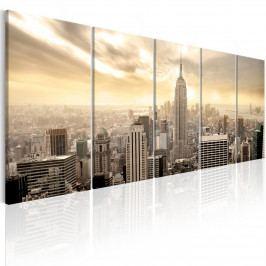 Vícedílný obraz - pohled na Manhattan (150x60 cm) - Murando DeLuxe