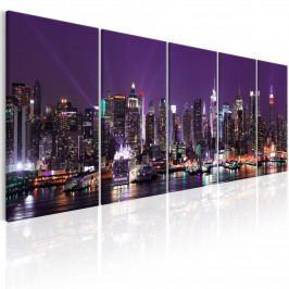 Obraz - New York v lila (200x80 cm) - Murando DeLuxe