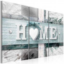 Vícedílný obraz - srdcový domov (150x100 cm) - Murando DeLuxe