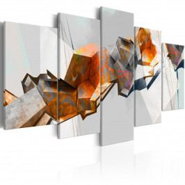 Abstraktní obraz - bloky (200x100 cm) - Murando DeLuxe