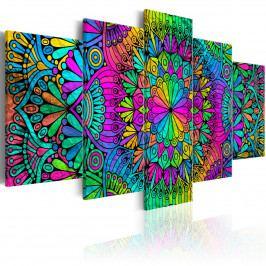 Vícedílný obraz - barevná Mandala (200x100 cm) - Murando DeLuxe