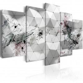 Abstraktní obraz - fleky (200x100 cm) - Murando DeLuxe