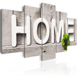 Pětidílný obraz - šťastný domov (200x100 cm) - Murando DeLuxe