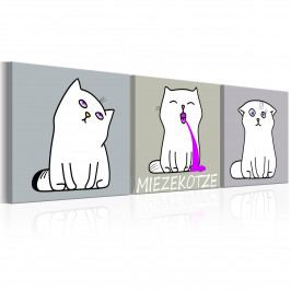 Tři kočky (90x30 cm) - Murando DeLuxe