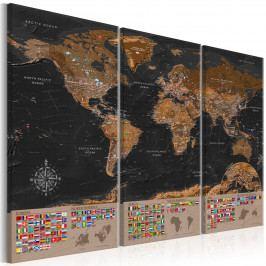 Mapka s vlajkami (150x100 cm) - Murando DeLuxe