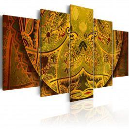 Pětidílné obrazy - zlatá Mandala (200x100 cm) - Murando DeLuxe