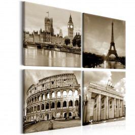 Čtyřdílné obrazy - srdce Evropy (80x80 cm) - Murando DeLuxe
