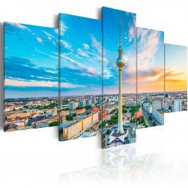Pětidílné obrazy - Berlín (200x100 cm) - Murando DeLuxe