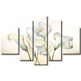 Bílé tančící květy (170x110 cm) - Murando DeLuxe