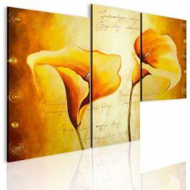 Třídílné obrazy - kala (98x70 cm) - Murando DeLuxe