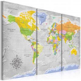 Netradiční mapa (150x100 cm) - Murando DeLuxe