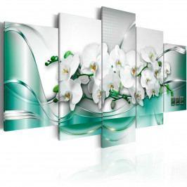 Pětidílné obrazy - tajemné orchideje (200x100 cm) - Murando DeLuxe