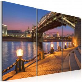 Třídílné obrazy - most (150x100 cm) - Murando DeLuxe