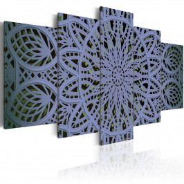 Pětidílné obrazy - fialový sen (200x100 cm) - Murando DeLuxe
