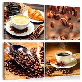 Čtyřdílné obrazy - vůně kávy (80x80 cm) - Murando DeLuxe