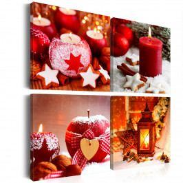 Vánoční čas (80x80 cm) - Murando DeLuxe