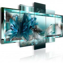 Modré lilie (200x100 cm) - Murando DeLuxe