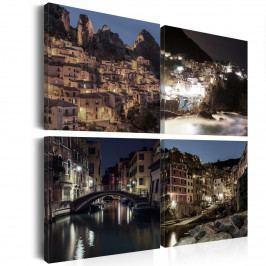 Obrazy na plátně - noční město (80x80 cm) - Murando DeLuxe
