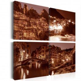 Obrazy na zeď - Italské město (80x80 cm) - Murando DeLuxe