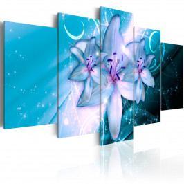 Pětidílné obrazy -modré nebe (200x100 cm) - Murando DeLuxe