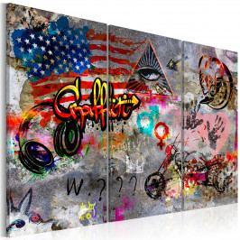 Americké graffiti (90x60 cm) - Murando DeLuxe