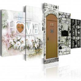 Pětidílný obraz - Home of love (200x100 cm) - Murando DeLuxe