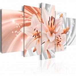 Obrazy na stěnu - korálová lilie (200x100 cm) - Murando DeLuxe