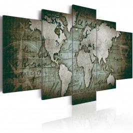Vícedílný obraz - mapa III (200x100 cm) - Murando DeLuxe