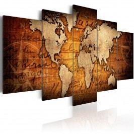 Vícedílný obraz - mapa II (200x100 cm) - Murando DeLuxe
