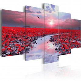 Červená záře (200x100 cm) - Murando DeLuxe
