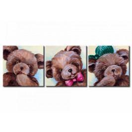 Třídílné obrazy - medvídci (135x45 cm) - Murando DeLuxe