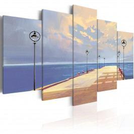 Pětidílné obrazy - pěší procházka (200x100 cm) - Murando DeLuxe