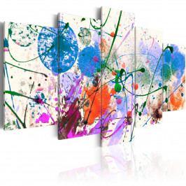 Pětidílné obrazy - zábavné dílo (200x100 cm) - Murando DeLuxe