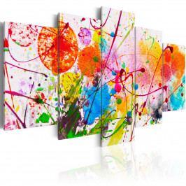 Pětidílné obrazy - barevné léto (200x100 cm) - Murando DeLuxe