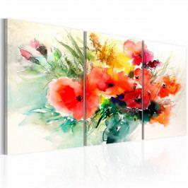 Třídílné obrazy - zajímavá kytice (120x60 cm) - Murando DeLuxe