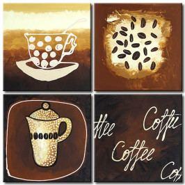Malovaná káva (80x80 cm) - Murando DeLuxe