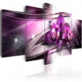 Pětidílné obrazy - fialový sladký hlas (200x100 cm) - Murando DeLuxe