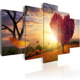 Pětidílné obrazy - země pocitů (200x100 cm) - Murando DeLuxe