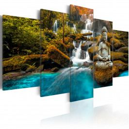 Pětidílné obrazy - říčka bohů (200x100 cm) - Murando DeLuxe