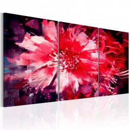 Karmínové květy (120x60 cm) - Murando DeLuxe