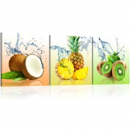 Třídílné obrazy - šťavnaté ovoce (90x30 cm) - Murando DeLuxe