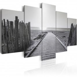 Vícedílné obrazy - šedobílá vzpomínka (200x100 cm) - Murando DeLuxe