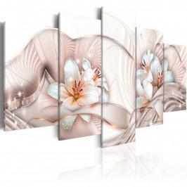Pětidílné obrazy - květová mušle (200x100 cm) - Murando DeLuxe
