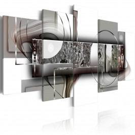 Pětidílné obrazy - abstraktní struktura (200x100 cm) - Murando DeLuxe