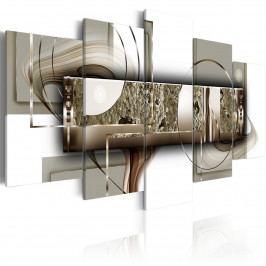 Zlatá abstrakce (200x100 cm) - Murando DeLuxe