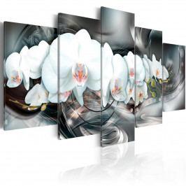 Pětidílné obrazy - bílá laň III. (200x100 cm) - Murando DeLuxe