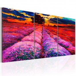 Třídílné obrazy - malovaná krajina (120x60 cm) - Murando DeLuxe